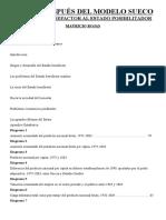 Suecia despues del modelo sueco. Del Estado benefactor al Estado posibilitador (Mauricio Rojas).doc