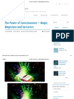 The Power of Consciousness - Magic, Magicians and Sorcerers