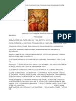 Oracion a La Santisima Trinidad Para Rompimientos de Brujerias
