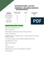 EDITAL DESTRINCHADO IFNMG