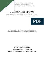Draft Proposal PHBI Remas Alikhlas