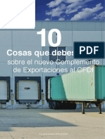 Ekomercio 10 cosas Complemento de Exportaciones Prorroga