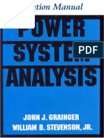 Solutions Manual for Power System Analysis - John J. Grainger & William D. Stevenson, Jr