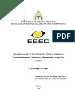 Determinação de Perdas, Eficiência e Potência Máxima de Transformadores de Distribuição Alimentando Cargas Não-Lineares