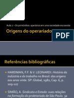 Origens Do Operariado No Brasil