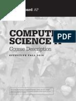 CompSci a Course Description