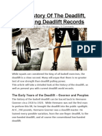 The History of the Deadlift