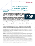2015 ESC Guidelines for the Management NSTEACS