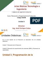 Presentacion Unidad 3 de Planeación de Producción 2016-1