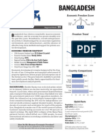 Bangladesh Economic Freedom Score 2016