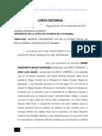 Carta Notarial Eber Luna