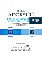 Adobe Cc Cheat Sheet for Photographers 2016 A4 PRINT