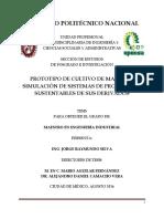 PROTOTIPO DE CULTIVO DE MAGUEY Y SIMULACIÓN DE SISTEMAS DE PRODUCCIÓN SUSTENTABLES DE SUS DERIVADOS