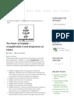 The Power of Istighfar - Astaghfirullah (I Seek Forgiveness of Allah) « Orbit Islam