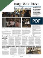 The Daily Tar Heel for Nov. 17, 2016