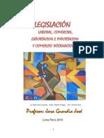 Legislacion Laboral, Comercial, Exportacion e Importacion y Comercio Internacional