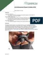 Curieuse Achievement Report October 2016