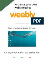 How to Use Weebly - Monico de Chavez - Virtual Powerhouse