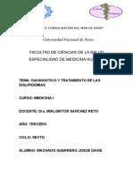 Diagnostico y Tratamiento de Las Dislipidemias