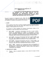 DOTC-DTI Joint Admin Order No. 01 Series of 2011