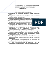 Normas de Convivencia de Los Docentes de La Instituccion Educativa