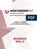 Sample Assignment on Business Skills