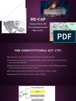 consitutional act - 1837 rebellions