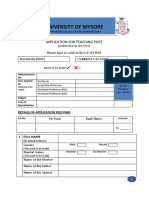 2-Teaching Post Application Form