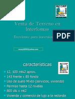 Interlomas Terreno Comercial 12,000 m2