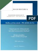 Italia 3 Trim 2016 - Pil Debito & Co