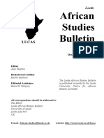 Africa Studies Bulletin No.69 December 2007