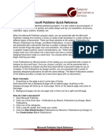 Microsoft Publisher Quick Reference