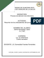 1. Resumen de Los Antecedentes Del Proceso Enfermero