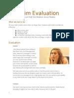 prelim evaluation
