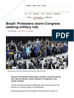 Brazil_ Protesters Storm Congress Seeking Military Rule - BBC News