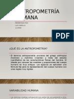 Antropometría Medicina