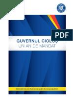 Bilant 1 an Mandat Guvern Ciolos