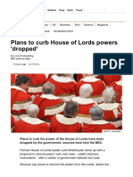 Plans to Curb House of Lords Powers 'Dropped' - BBC News