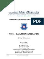 IT6711-Data Mining Lab