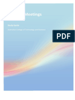 BSBADM502B Manage Meetings Study Guide