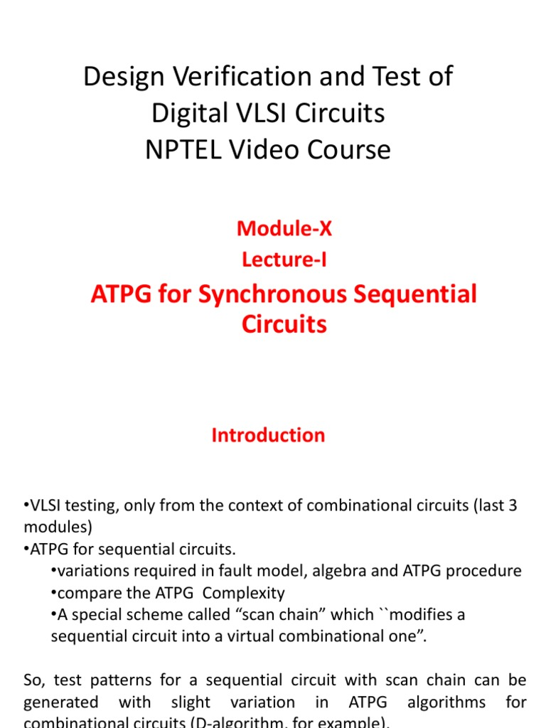 Mod10 Electronic Circuits Computer Hardware Testing Of Vlsi Circuit