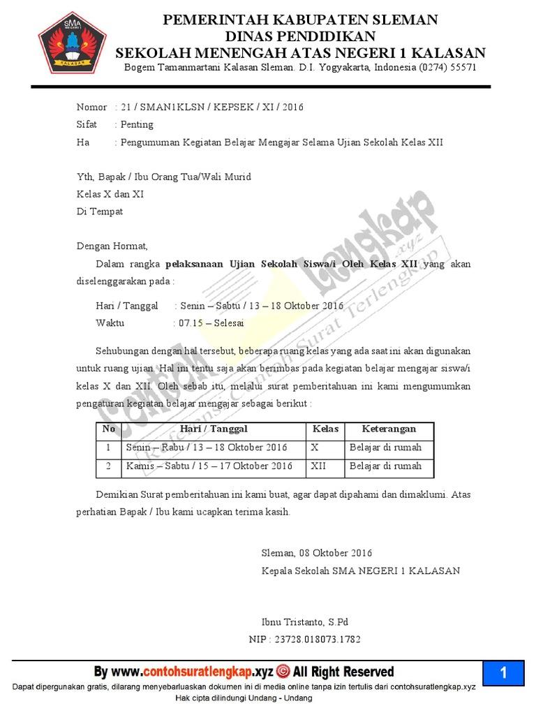 38+ Contoh surat dinas sekolah pdf terbaru terbaik