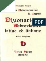 (Manuali Hoepli) Adriano Cappelli-Lexicon Abbreviaturarum. Dizionario Di Abbreviature Latine Ed Italiane-Ulrico Hoepli (1999)