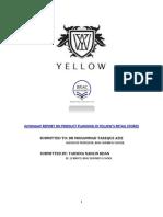 Yellow Report BU- Internship Report 2015- Product Planning