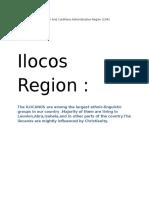 Folk Arts in Ilocos Region and Cordillera Administrative Region