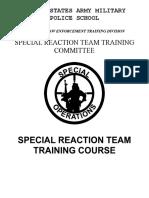 Special reaction team Army Student Handbook