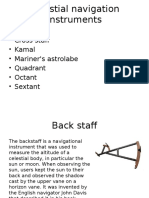 Celestial Navigation Instruments
