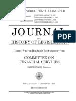HOUSE HEARING, 110TH CONGRESS - J O U R N A L AND HISTORY OF LEGISLATION