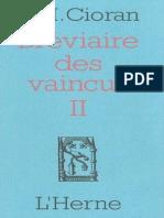 Cioran - Breviaire des vaincus II.epub