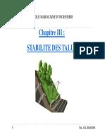 Stabilité Des Talus